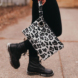 dark leopard clutch