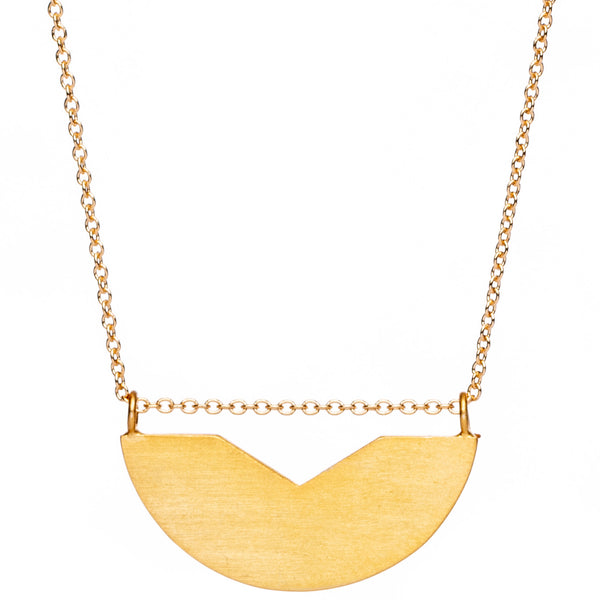 half circle v cut necklace