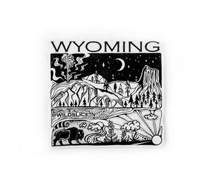 "Wyoming State  4"" stickers"