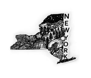 "Load image into Gallery viewer, New York State sticker  4"" sticker"