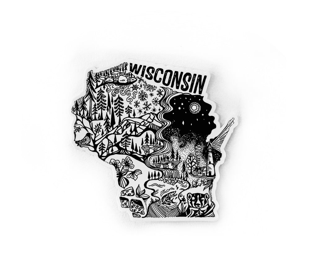 "Wisconsin State  4"" stickers"