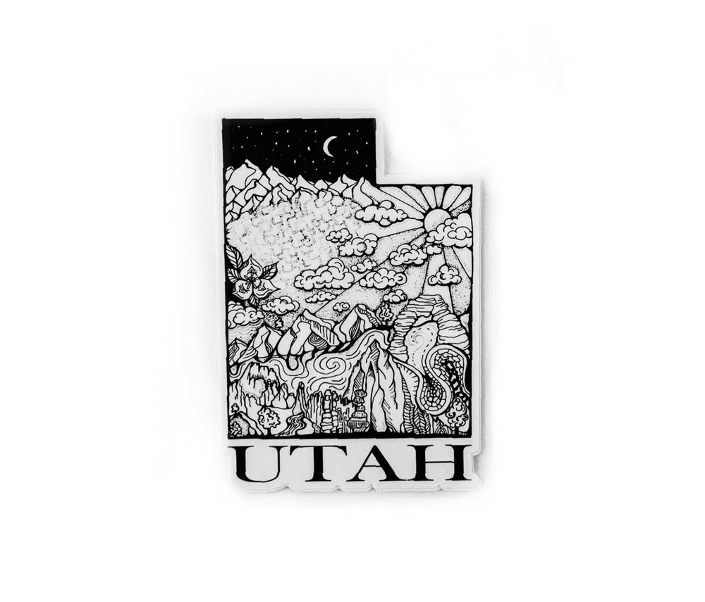 "Load image into Gallery viewer, Utah State  4"" Stickers"