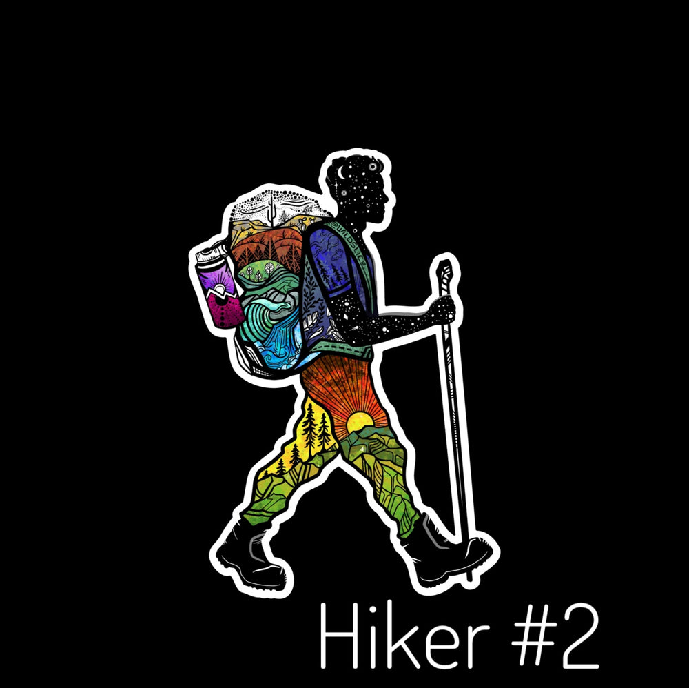 Hiker Guy #1 Stickers