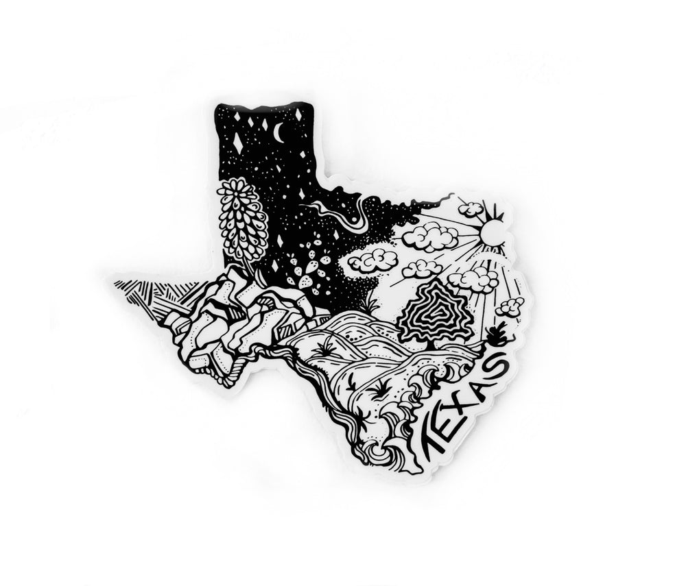 "Texas State  4"" stickers"