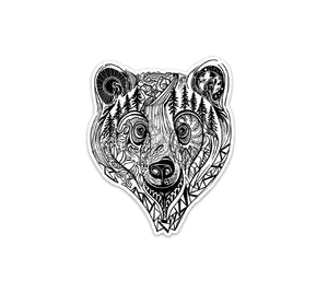 "URSA the Grizzly Bear 3"" sticker"
