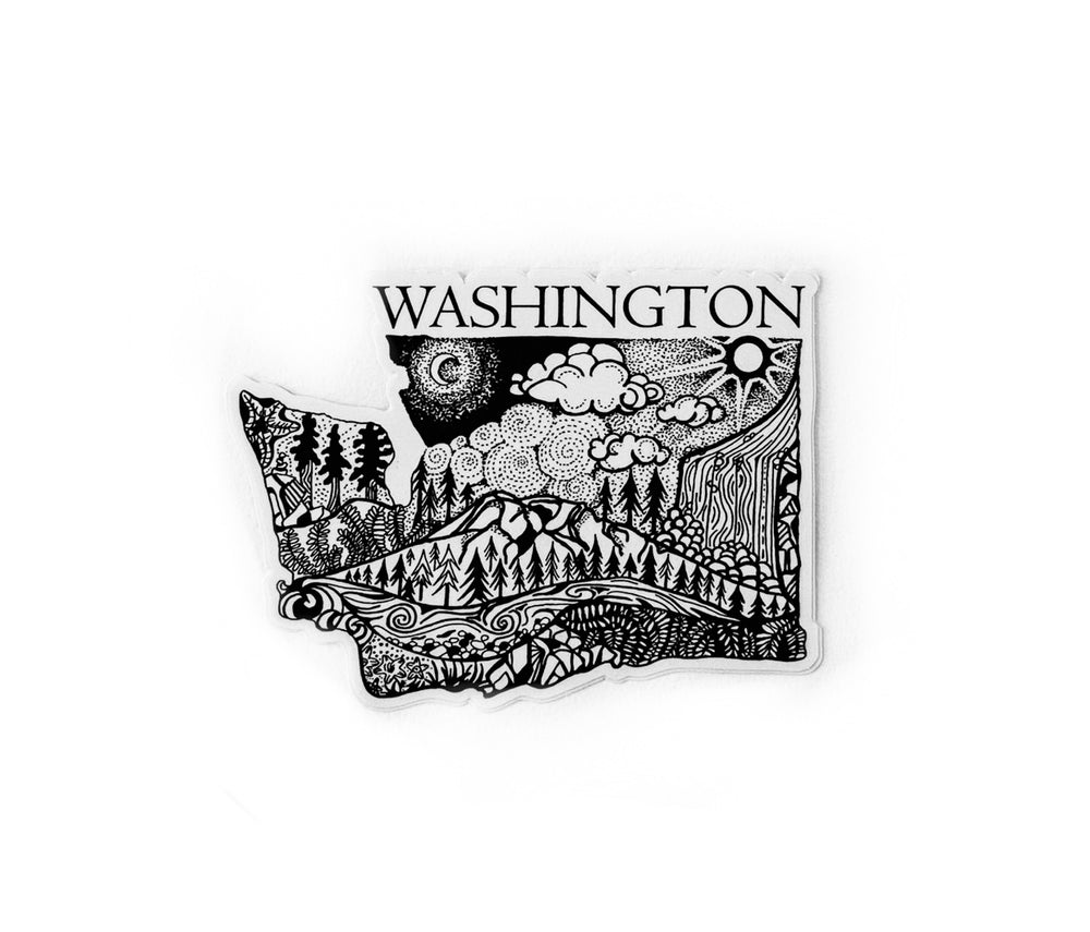 "Washington State  4"" stickers"