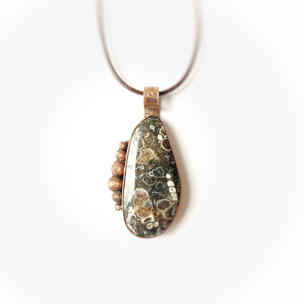 Load image into Gallery viewer, Pendant #11 Fossil Turitella Agate