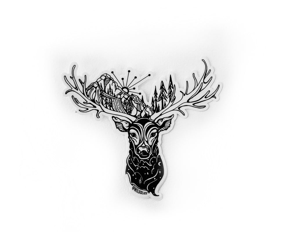 "Load image into Gallery viewer, Orion the Elk 4"" sticker"