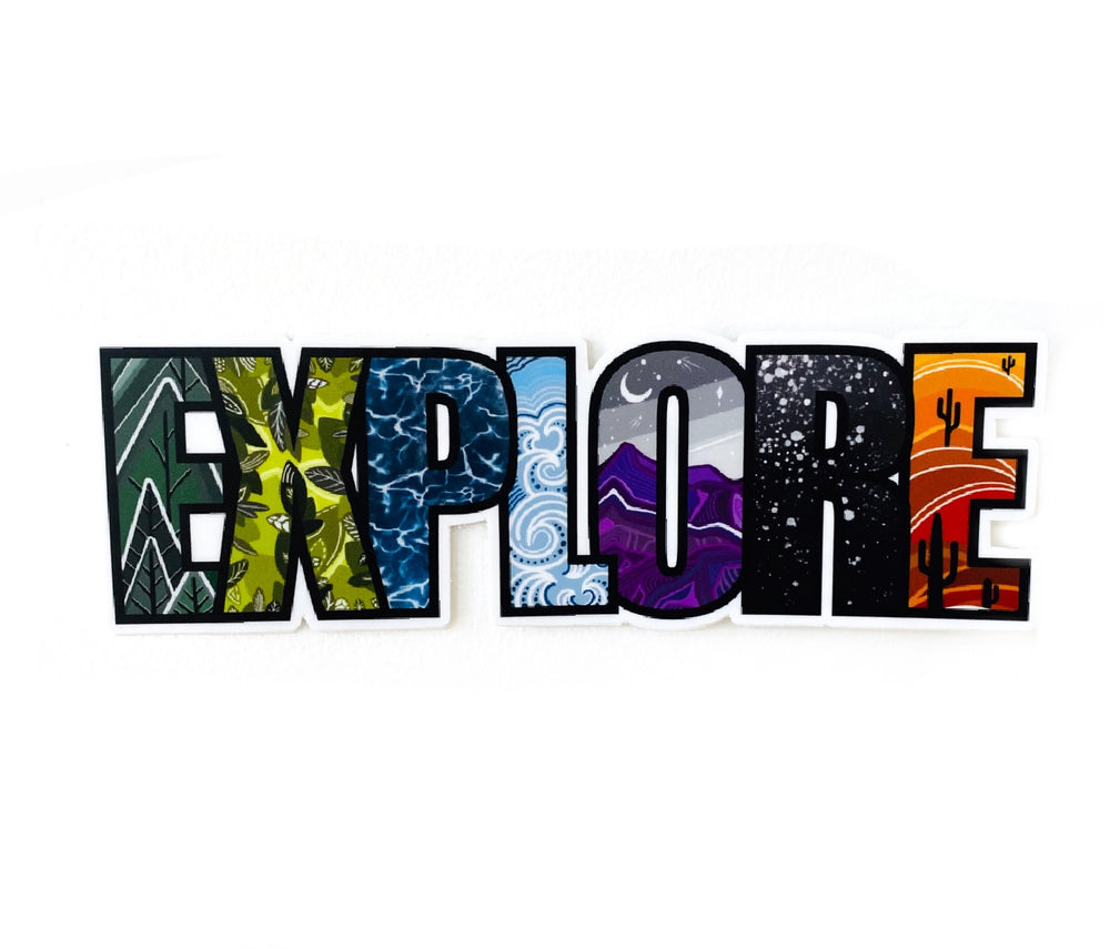 "EXPLORE 6"" sticker"