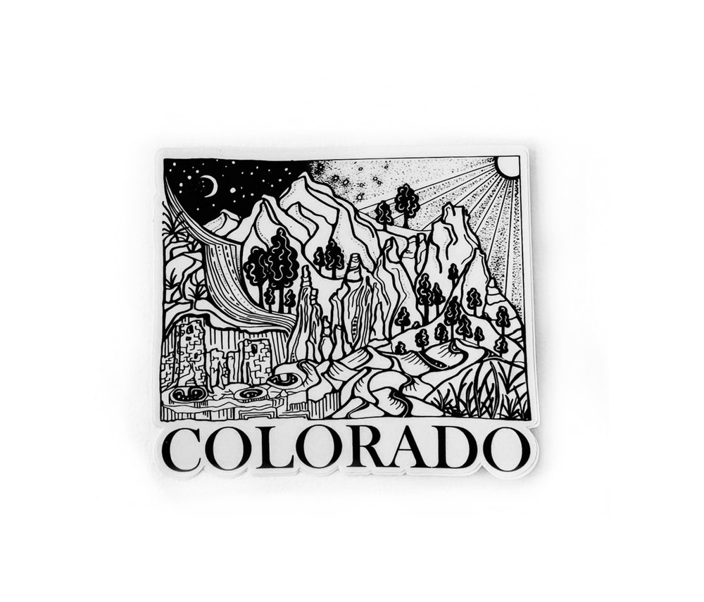 "Load image into Gallery viewer, Colorado State  4"" sticker"