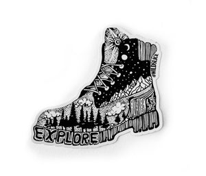 "Hiking Boot sticker 3"" or 4"""