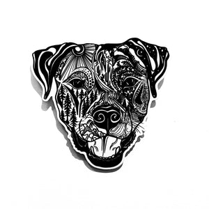Pitbull Dog Sticker