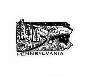 "Pennsylvania State Sticker  4"" sticker"