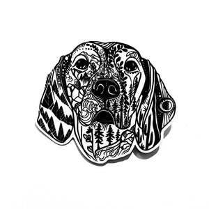 Weimaraner/ Vizsla Dog Sticker