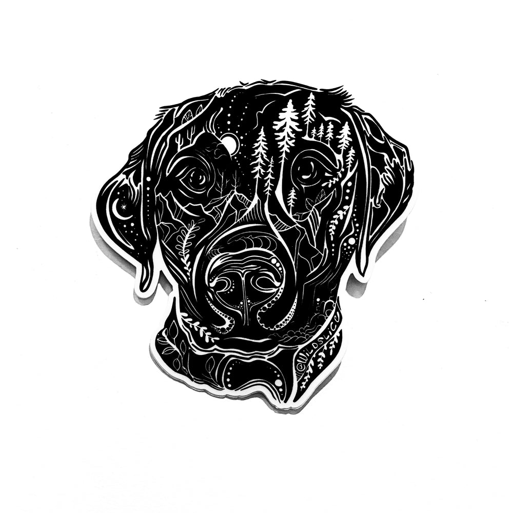Black Lab, Yellow Labrador Dog Sticker