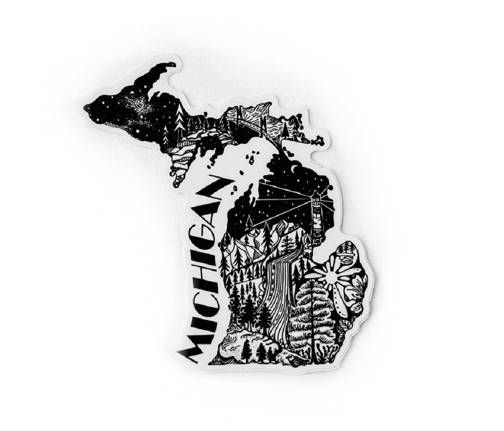 "Load image into Gallery viewer, Michigan State  4"" sticker"