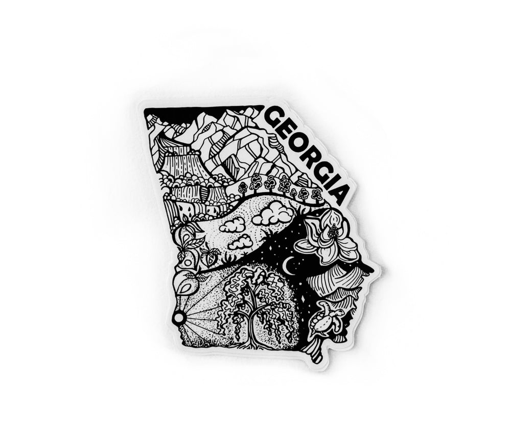"Georgia State  4"" sticker"