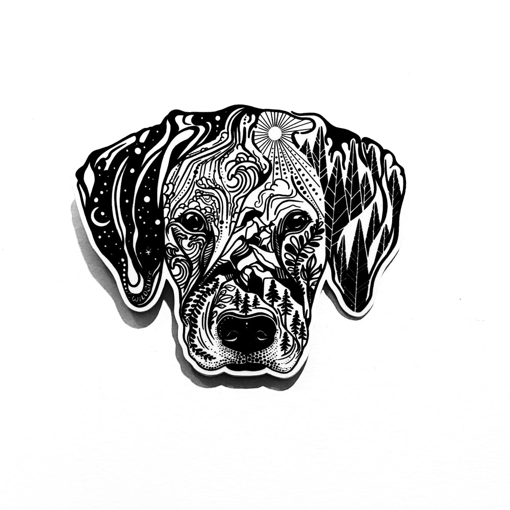 Hound/Beagle hunting Dog Sticker