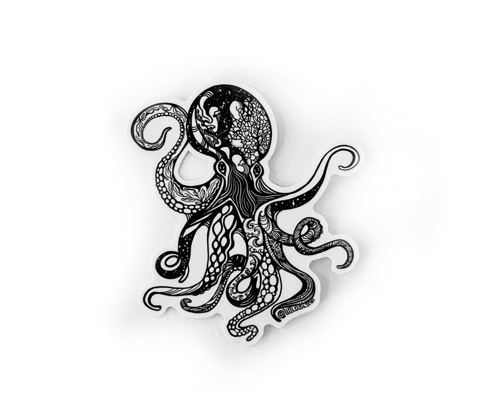 "Load image into Gallery viewer, Poseidon the Octopus Sticker 4"" sticker"