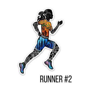Runner Girl #2 sticker