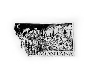 "Load image into Gallery viewer, Montana State  4"" sticker"