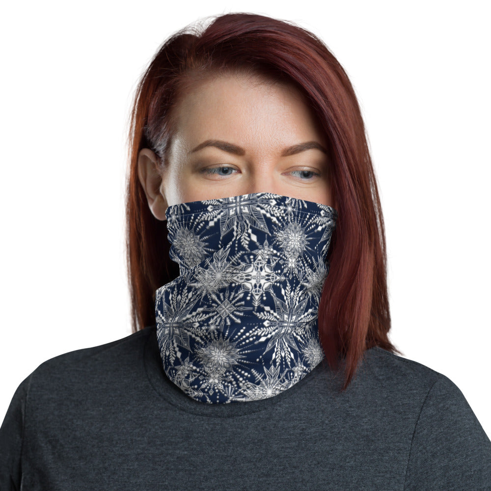 Load image into Gallery viewer, Snowflake Neck Gaiter Mask