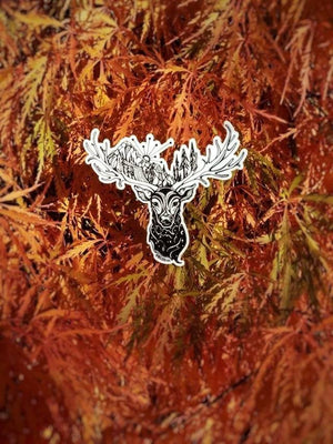 "Orion the Elk 4"" sticker"