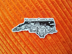 "Load image into Gallery viewer, North Carolina State  4"" sticker"
