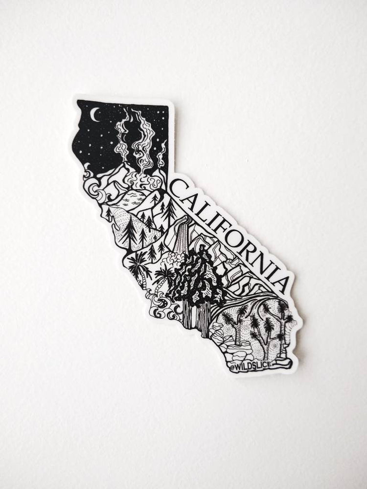 "California State  4"" sticker"