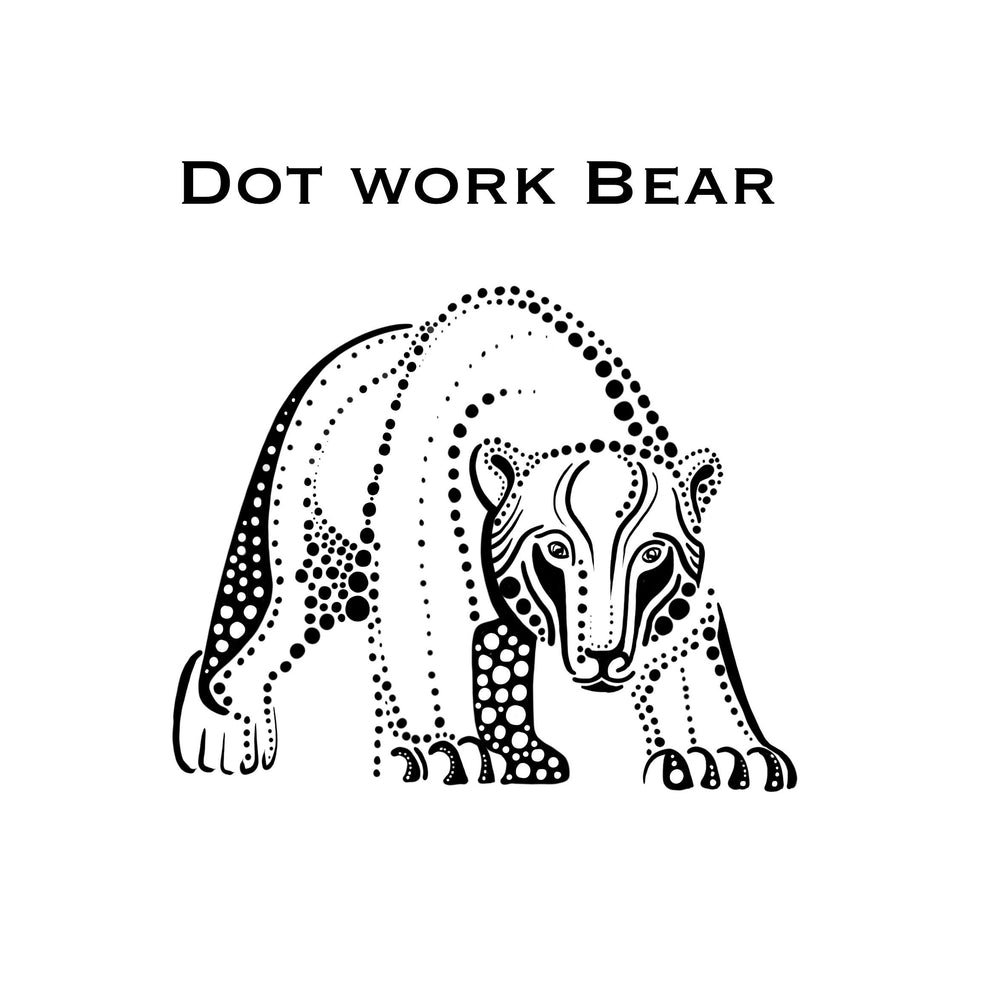 Load image into Gallery viewer, Dot work Bear Tattoo Artwork