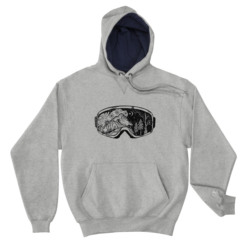 Load image into Gallery viewer, Snowboard Ski Goggles Champion Hoodie