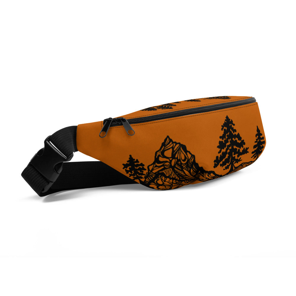 Mountains and Forest Burnt orange Fanny Pack