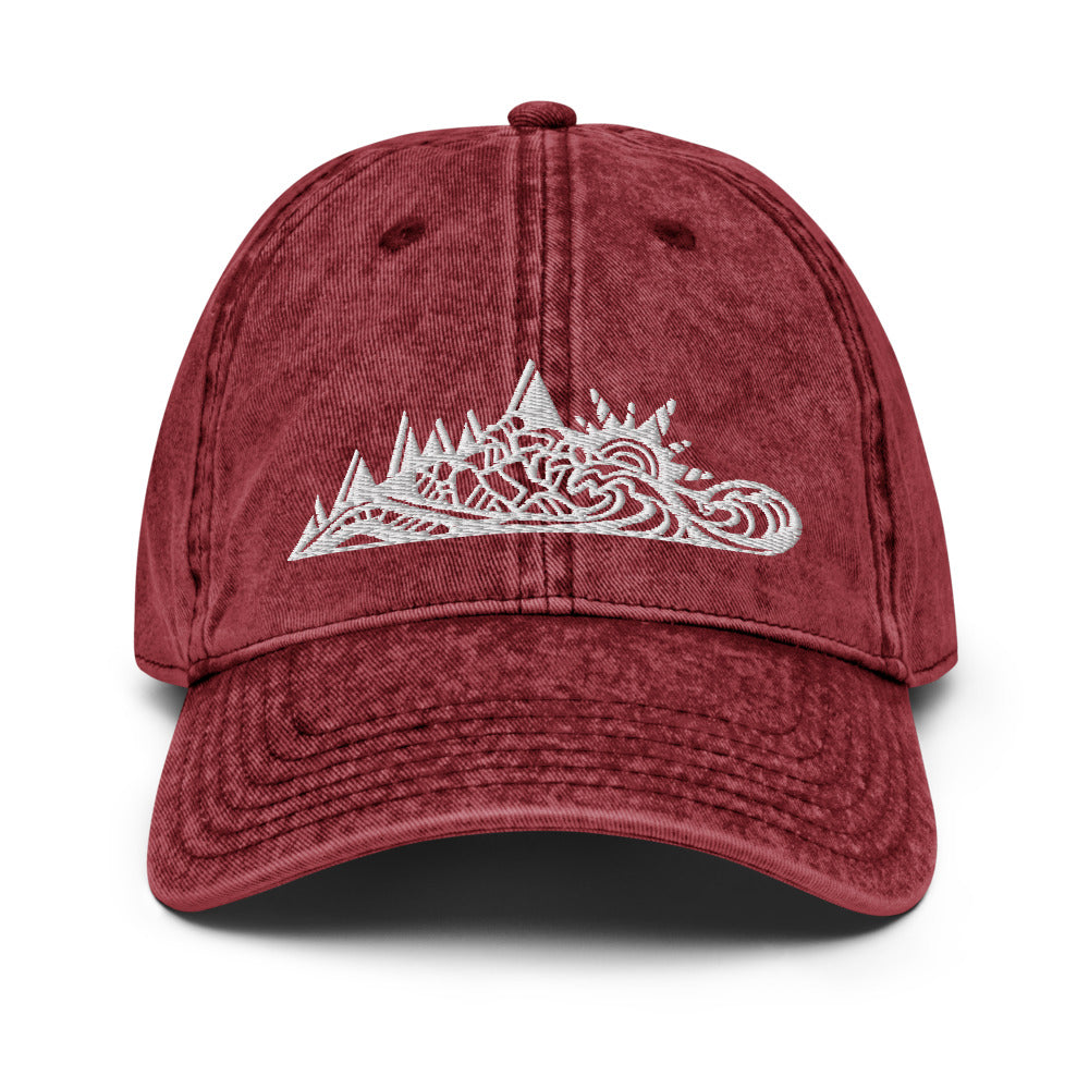 Mountain Forest Ocean Vintage Cotton Twill Cap