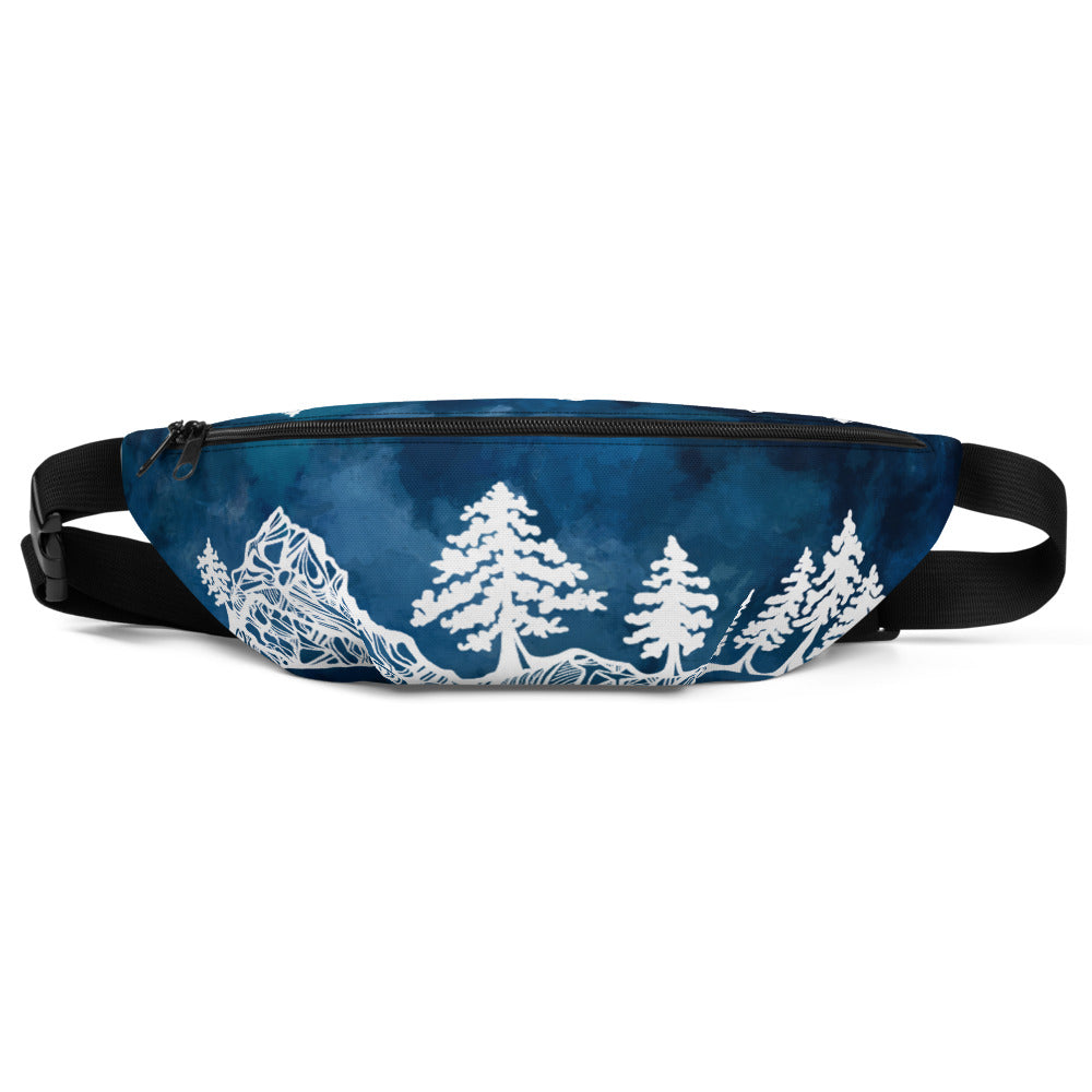 Mountains and Forest at Night Fanny Pack