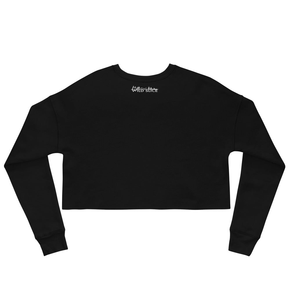 Load image into Gallery viewer, Snowflake sphere Crop Sweatshirt