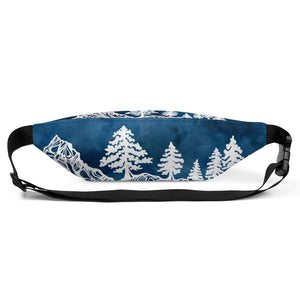 Load image into Gallery viewer, Mountains and Forest at Night Fanny Pack
