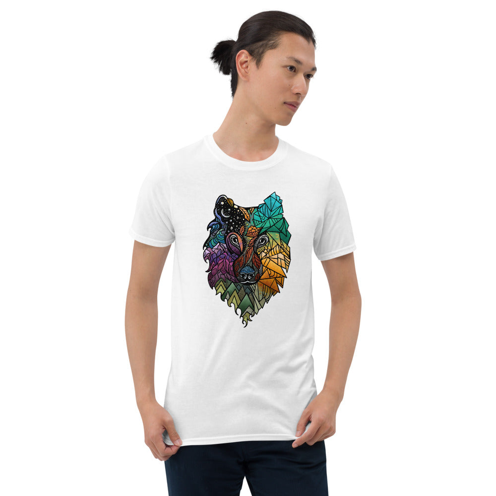 Load image into Gallery viewer, Prism Wolf Short-Sleeve Unisex T-Shirt