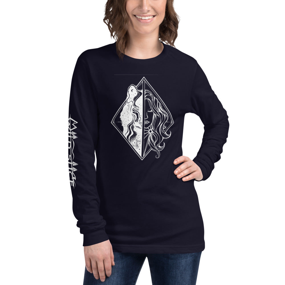 Load image into Gallery viewer, She Wolf Unisex Long Sleeve Tee