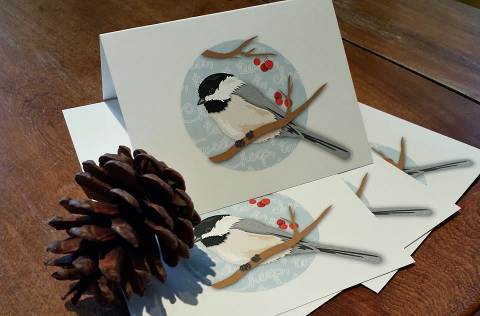 Note Card, Chickadee