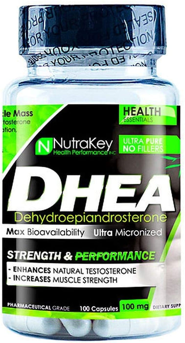 Nutrakey DHEA 100mg 100 Capsules - Supplement Xpress Online