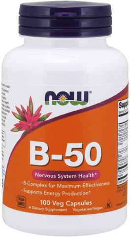 NOW B-50 100 Vcaps - Supplement Xpress Online