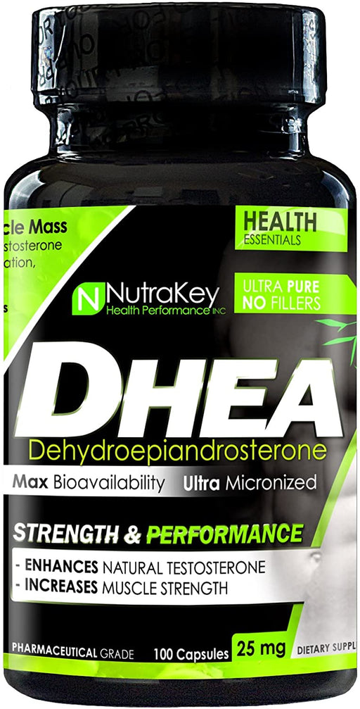 Nutrakey DHEA 25mg 100caps - Supplement Xpress Online