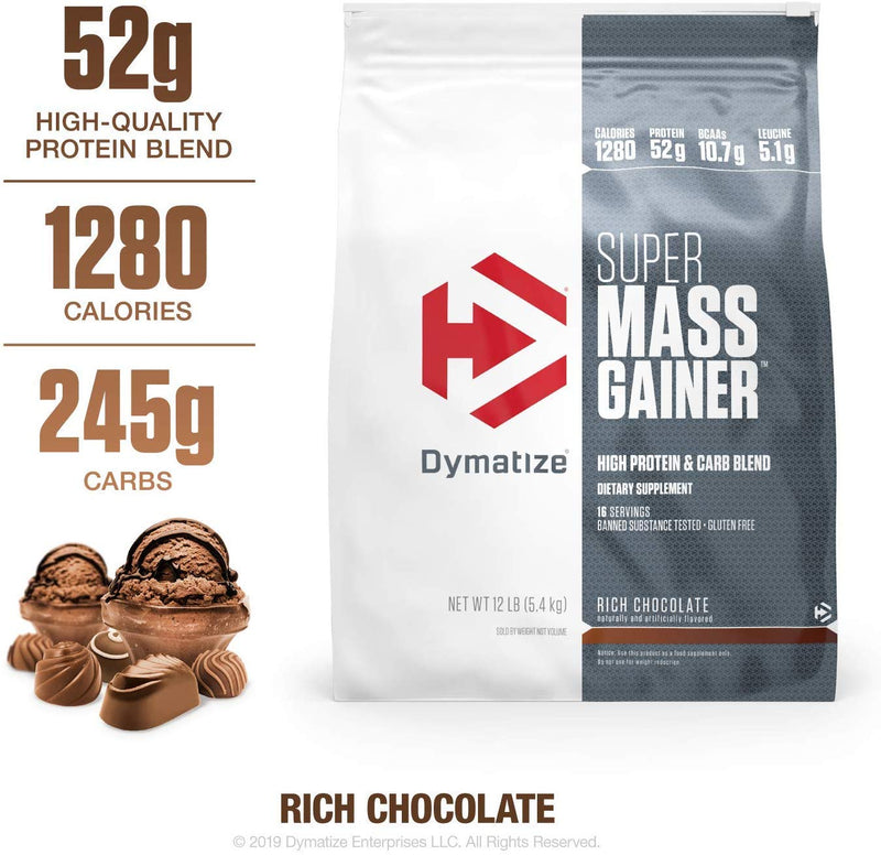 Dymatize Super Mass Gainer 12lb - Supplement Xpress Online