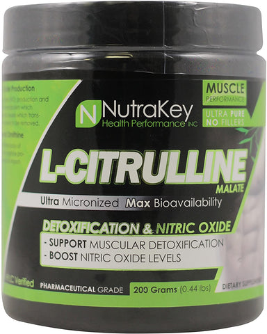 Nutrakey Citrulline Malate 200g - Supplement Xpress Online