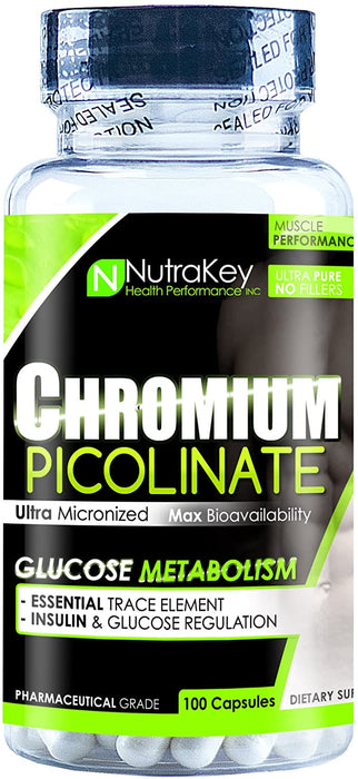 Nutrakey Chromium Picolinate 200mcg 100ct - Supplement Xpress Online