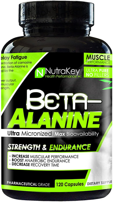 Nutrakey Beta Alanine 120 caps - Supplement Xpress Online