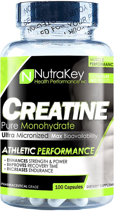 Nutrakey Creatine Monohydrate 100 Cap - Supplement Xpress Online