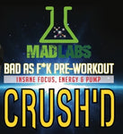 Mad Labs Pre-Workout Crush'd 25sv - Supplement Xpress Online