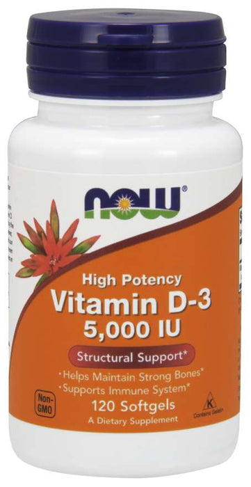 Now Food Vitamin D-3 5,000 IU - Supplement Xpress Online