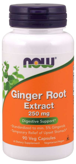 Now Foods Ginger Root Extract 250mg - Supplement Xpress Online